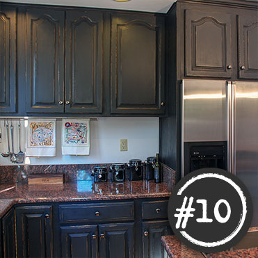 Classic Cupboards Paint 10 Golden Oak Cabinets Painted Distressed Black