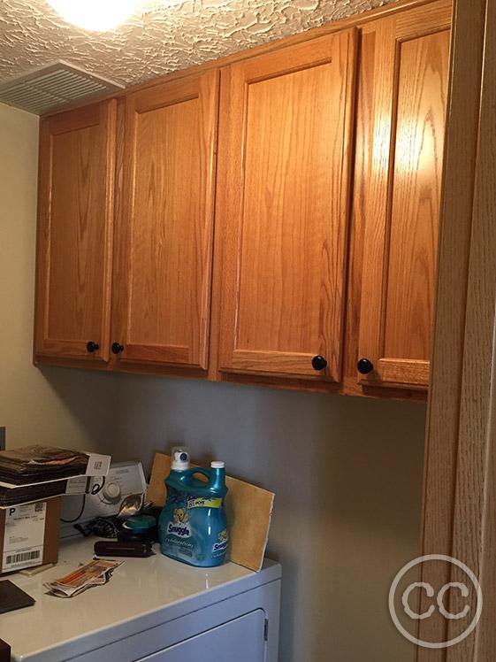 Builder Grade Oak Cabinets Painted